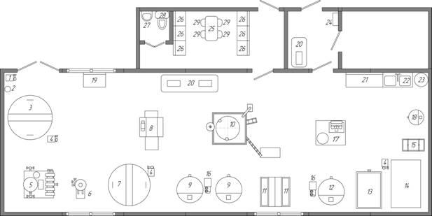 Схема размещения и состав